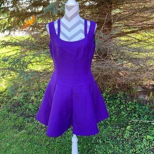 Prada Sleeveless Purple Pleated Mini Dress Size 8